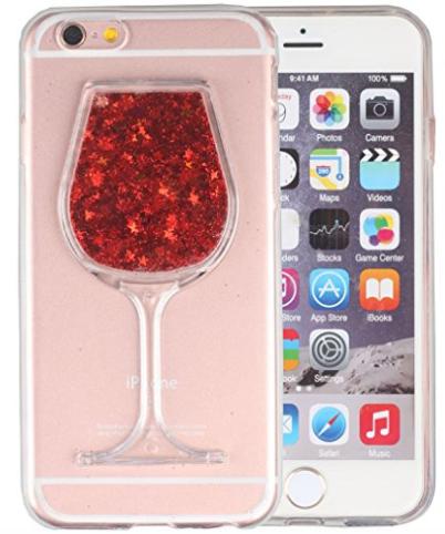 Kryt Sklenice červeného vína liquid pro Apple Iphone 6   6S ... 7c3e1b39d97